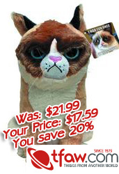 Grumpy Cat Plush Toy. You KNOW You Want One.